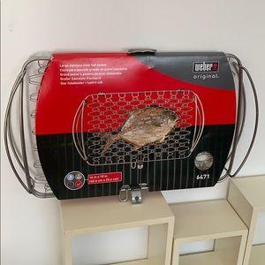 Weber Large Stainless Steel Fish Basket